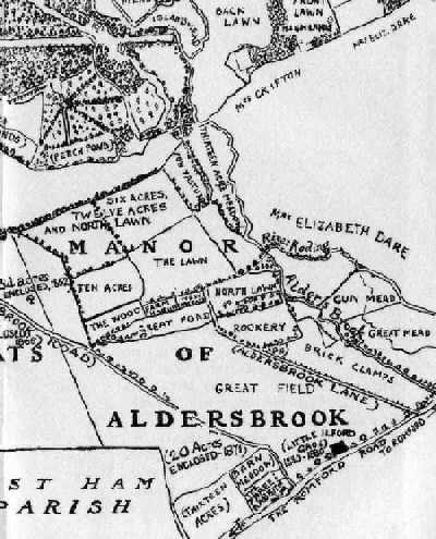 Historic Map of Aldersbrook